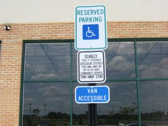 Handicap Parking Lot Signs