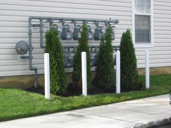 Bollards to brotect Utilities