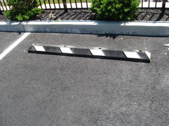 Re-cycled Rubber Parking Bumpers