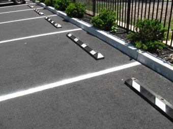Re-cyled Parking Bumpers